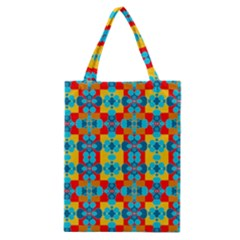 Pop Art Abstract Design Pattern Classic Tote Bag