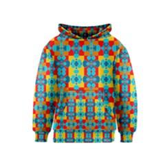 Pop Art Abstract Design Pattern Kids  Pullover Hoodie