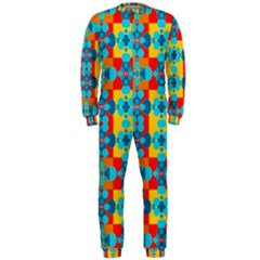 Pop Art Abstract Design Pattern OnePiece Jumpsuit (Men)
