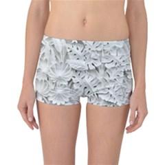 Pattern Motif Decor Reversible Boyleg Bikini Bottoms
