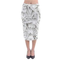 Pattern Motif Decor Midi Pencil Skirt