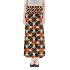 Kaleidoscope Image Background Full Length Maxi Skirt