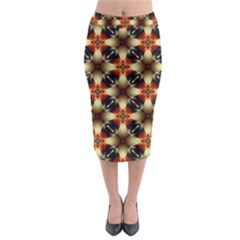Kaleidoscope Image Background Midi Pencil Skirt