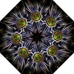 Flower Structure Photo Montage Golf Umbrellas