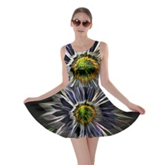 Flower Structure Photo Montage Skater Dress