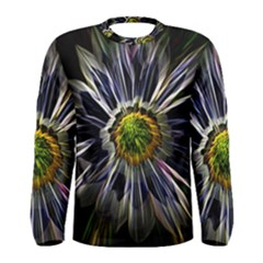 Flower Structure Photo Montage Men s Long Sleeve Tee