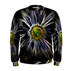 Flower Structure Photo Montage Men s Sweatshirt