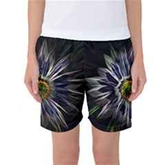 Flower Structure Photo Montage Women s Basketball Shorts
