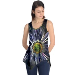 Flower Structure Photo Montage Sleeveless Tunic