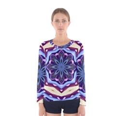 Mandala Art Design Pattern Women s Long Sleeve Tee