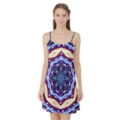 Mandala Art Design Pattern Satin Night Slip