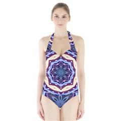 Mandala Art Design Pattern Halter Swimsuit