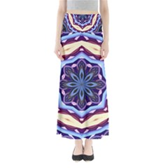 Mandala Art Design Pattern Full Length Maxi Skirt