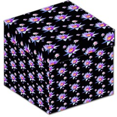 Flowers Pattern Background Lilac Storage Stool 12