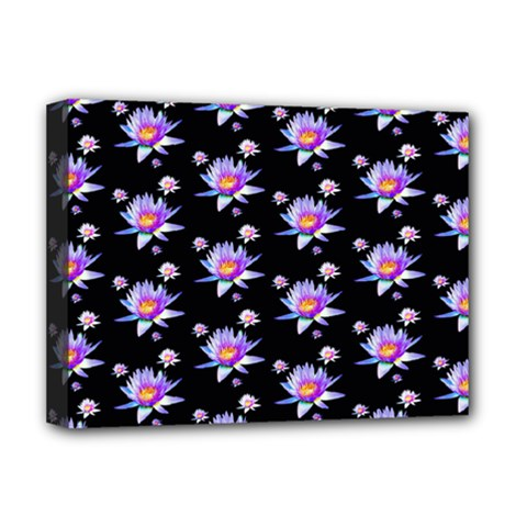 Flowers Pattern Background Lilac Deluxe Canvas 16  X 12
