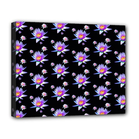 Flowers Pattern Background Lilac Deluxe Canvas 20  x 16