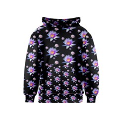 Flowers Pattern Background Lilac Kids  Pullover Hoodie