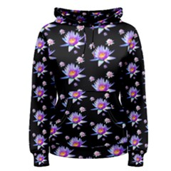 Flowers Pattern Background Lilac Women s Pullover Hoodie