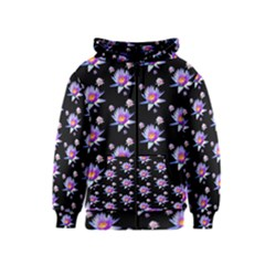 Flowers Pattern Background Lilac Kids  Zipper Hoodie