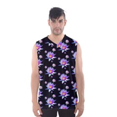 Flowers Pattern Background Lilac Men s Basketball Tank Top