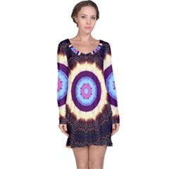 Mandala Art Design Pattern Long Sleeve Nightdress
