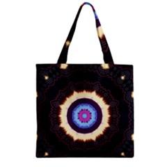 Mandala Art Design Pattern Zipper Grocery Tote Bag