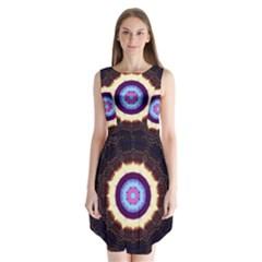 Mandala Art Design Pattern Sleeveless Chiffon Dress