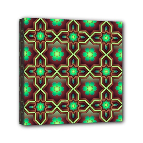 Pattern Background Bright Brown Mini Canvas 6  x 6