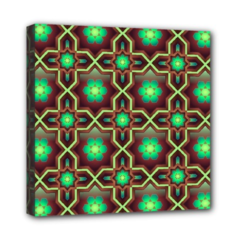 Pattern Background Bright Brown Mini Canvas 8  x 8