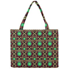 Pattern Background Bright Brown Mini Tote Bag