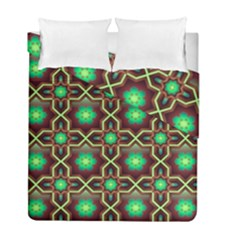 Pattern Background Bright Brown Duvet Cover Double Side (full/ Double Size)