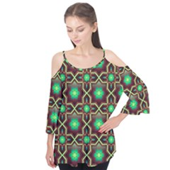 Pattern Background Bright Brown Flutter Tees