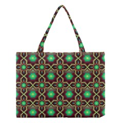 Pattern Background Bright Brown Medium Tote Bag