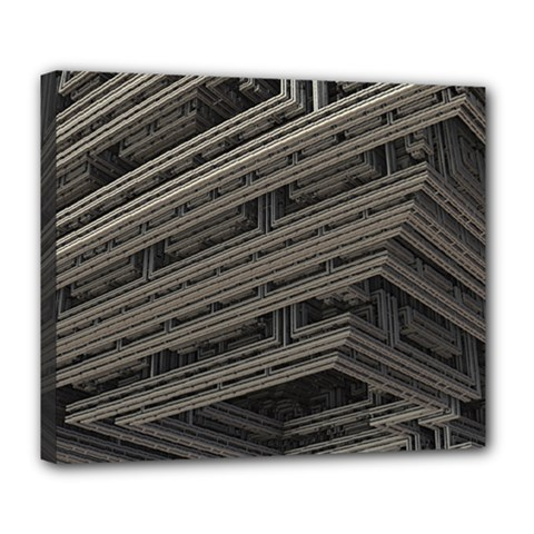 Fractal 3d Construction Industry Deluxe Canvas 24  x 20