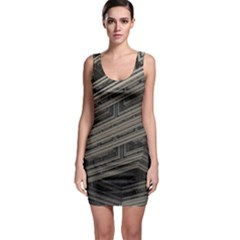Fractal 3d Construction Industry Sleeveless Bodycon Dress