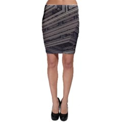 Fractal 3d Construction Industry Bodycon Skirt