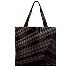 Fractal 3d Construction Industry Zipper Grocery Tote Bag