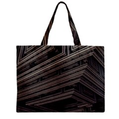 Fractal 3d Construction Industry Zipper Mini Tote Bag
