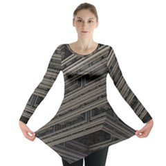 Fractal 3d Construction Industry Long Sleeve Tunic