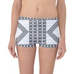 Pattern Background Texture Black Boyleg Bikini Bottoms