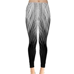 Feather Graphic Design Background Leggings