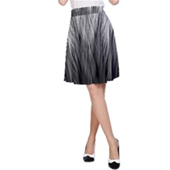Feather Graphic Design Background A Line Skirt