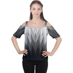 Feather Graphic Design Background Women s Cutout Shoulder Tee