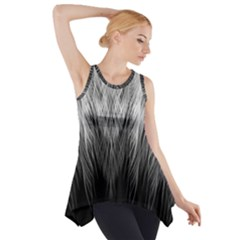 Feather Graphic Design Background Side Drop Tank Tunic