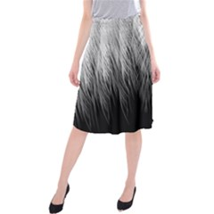 Feather Graphic Design Background Midi Beach Skirt