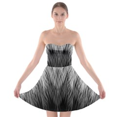 Feather Graphic Design Background Strapless Bra Top Dress