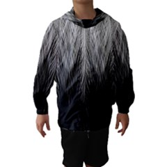Feather Graphic Design Background Hooded Wind Breaker (Kids)