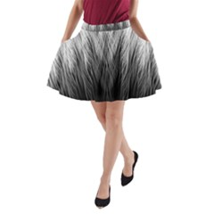 Feather Graphic Design Background A-Line Pocket Skirt