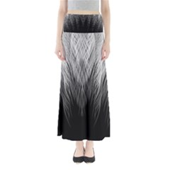Feather Graphic Design Background Full Length Maxi Skirt