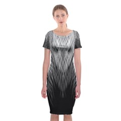 Feather Graphic Design Background Classic Short Sleeve Midi Dress